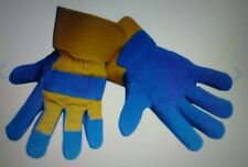 MSA MUSTANG DOUBLE LEATHER PALM GLOVES. 6 PAIRS, PART NUMBER 226545