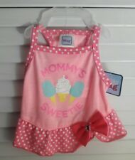 Adorable Dog apparel Mommy's Sweetie Pink Pet Dress for Puppy Size Medium