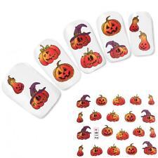 Tattoo Nail Art Aufkleber Kürbis Nagel Sticker Halloween Neu!