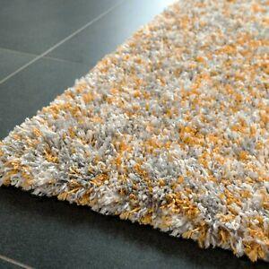Ochre Dense Pile Shaggy Rug Thick Soft Large Living Room Mat Long Runner Rugs