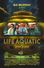 THE LIFE AQUATIC WITH STEVE ZISSOU Movie Promo POSTER Bill Murray Owen Wilson