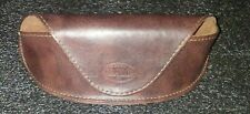 Authentic Fossil Brown Leather Eyeglasses Sunglasses Magnetic Case