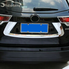 Car ABS Chrome Rear Trunk License Plate Cover For Toyota Highlander 2015-2019