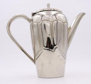 Art Deco TH Teekanne / Chrom / Kanne / 1,2 L / Vintage / Antik #Z4