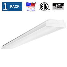 50W Led Wraparound Ceiling Light Fixture 4Ft Led Garage Shop Lights 5500lm 4000K