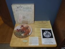 1982 - Nature's Heritage Red Fox Plate by Richard Timm - #3 Limited Edition 8.5""