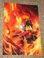 "The Lego Ninjago Movie ""Be Fire"" 11.5x17 Promo Movie POSTER Character"