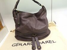 TTBE - Sac gerard darel st germain Midday Midnight 24h En Cuir Marron Violet