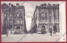 TORINO CITTÀ 496 GRAND HOTEL EUROPA - TRAM N.° 104 Cartolina viaggiata 1906