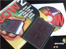 Wow 2.0 (Face Down Version and DVD) - Card Trick,Gimmick,Close up Magic Props