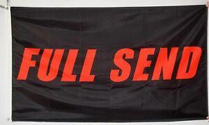 Full Send Nelk Boys Nelkboys 3x5 Feet Banner 3 x 5 Flag BLACK New Fast Shipping