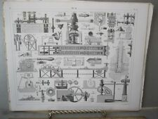 Vintage Print,EARLY MACHINERY 2,Taffle 30,Iconographic,1851
