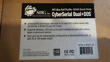 New JJ-P02D11-S5 SIIG PCI-BUS 16550 serial ports