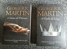 A Game of Thrones & A Clash of Kings Books 1 & 2 Unread Excellent Condition