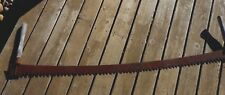 "Primitive 2 Man Logging SAW  Antique 5 ft 6"" Timber Lumberjack Rusty Farmhouse"
