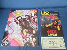U2 1993 Zoo Tv Tour Book for Japan Aussie w Flyer Note Concert Program Bono Edge