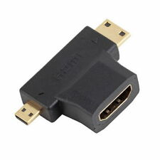 HDMI Female to Mini Micro HDMI Male V1.4 USA SELLER 2 in 1 Convertor Adapter CC