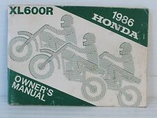 1986 HONDA XL600R OWNER'S MANUAL, 84 PAGES, CLEAN, OEM {A36}