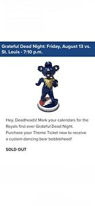 🚨Presale🚨 Royals Grateful Dead Bobblehead 8/13/2021