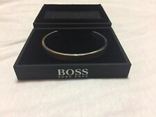 Hugo Boss Sterling silver men's cuff bracelet with logo engraving