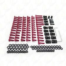 For GSXR 600 750 1000 Red Complete Fairing Bolts Screws Fasteners Kit