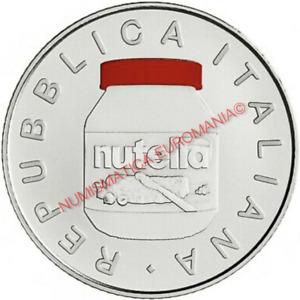 5 EURO ITALIA 2021 NUTELLA ROSSA IN FOLDER UFFICIALE ECCELLENZE ITALIANE