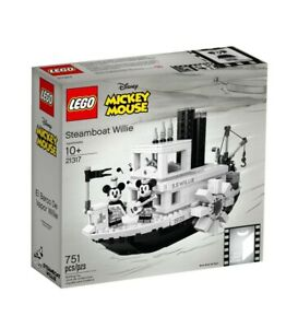 Lego 21317 Disney Steamboat Willie Mickey Mouse New Sealed Box ( Rare & Retired)