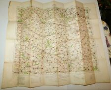 1916 Ww1 Lens France Military Linen Backed Map