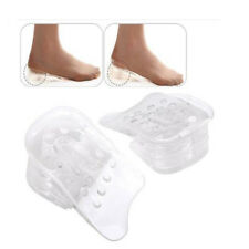 1 Pair Unisex Height Increase Insole Heel Lifts Gain Altitude Shoe Silicone Pad