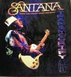Official Merch Santana 2017 Tour Blanket Transmogrify 50x60