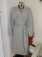 M&s Autograph Jacket Duster Coat Grey Size 16 With Belt Ladies Linen RP