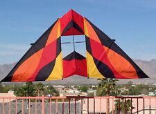 "Delta Box Kite Rocky Mountain Delta Conyne 93x40"" RipStop Nylon + 2-Tails + Case"
