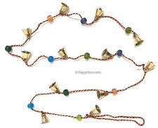 """Brass Bells"" 1.5cm & 'Beads' on String Hippie 12 Small Bells"
