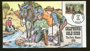 1999 Sacramento California - Gold Rush - The Forty Niners - Collins FDC