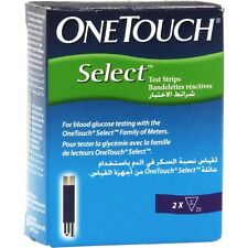 100 pcs One Touch Select Johnson & Johnson Test Strips blood glucose Exp 01/2018