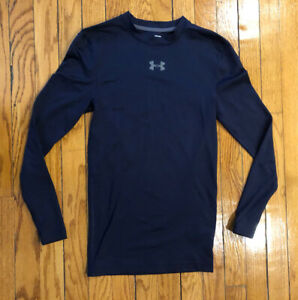 Under Armour Navy Blue Compression Cold Gear Shirt - Adult Small SM