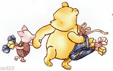 "5"" Disney classic pooh & piglet prepasted wall border cut out character"