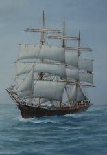 English School 19th/20th Century Masted Ship in full Sail Watercolour