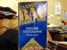 Lannee BAC Bordas 1988 Histoire-Geographie