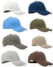 Cappy Herren Baseball Cap Kappe ohne Logo einfarbig Klettverschluss S/M blau