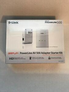 D-Link PowerLine AV500 Adapter Starter Kit (DHP-501AV) Brand New