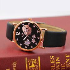 Womens Fashion Digital Dial Faux Leather Band Quartz Analog Wrist Watch Watches
