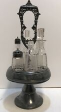 """Antique Castor Condiment  Swivel Caddy Set From The Set of """"SLEEPY HOLLOW"""""""