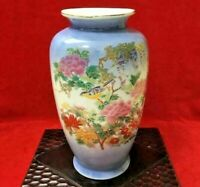 High-class Japanese Porcelain Vase Bird Flower Paint Antique Old Japan Art Kado