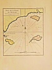 Antique Map of Idee de la Rade du Mingan. QUEBEC, CANADA. 1755-1764.FEAMEABLE.