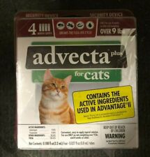 Lot Of 3 Advecta Plus for Cats 4-Pack Squeeze-On Applications Brand New