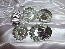 10 x metal tarts & floating candle molds. Candle making, soy wax. Free postage.