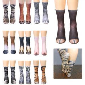 Unisex Adult/Child Sublimated Print Socks Animal Paw Crew Animal Feet Socks