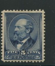1888 US Stamp #216 5c Mint Hinged Grade XV 85 OG Catalogue Value $335 Certified