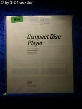 Sony Bedienungsanleitung CDP C500 CD Player (#0636)